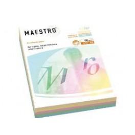 Papier A4 MAESTRO color 80 g/m2 MIX Pastel 5x50ark.
