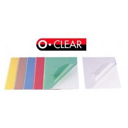 Półprzezroczyste kolorowe okładki do bindowania Opus Clear A4 200mic.