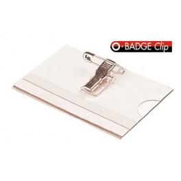 Identyfikatory wielorazowe z klipsem i agrafką OPUS BADGE CLIP