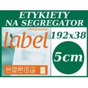 ETYKIETA biała samoprzylepna A4 - 192,0x38,0mm