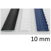 Listwy zamykane O.CLICK 10mm czarny - 50 szt.