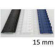 Listwy zamykane O.CLICK 15mm czarny - 50 szt.