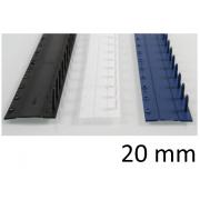 Listwy zamykane O.CLICK 20mm czarny - 50 szt.